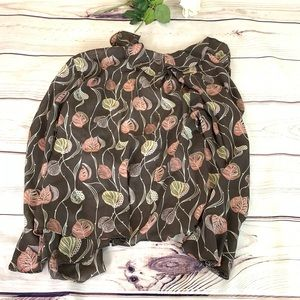 Lane Bryant Tops - Lane Bryant Women's sz 18/20 floral sheer blouse